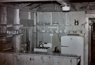 Kitchen in Joanna's #9 cabin, mid 1960's