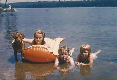 Lounging in the lake, 1961