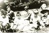 (L-R) ?, Peter Jaques, ?, John Manthorpe, ?,?,?, Chris Dennis (far right)