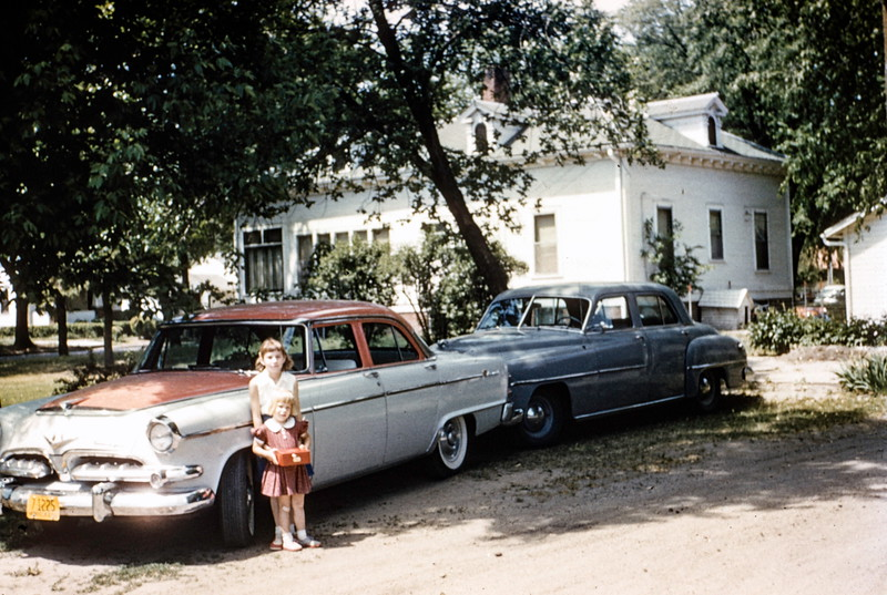 Barbara and Carol in Norfolk, NE, 1955