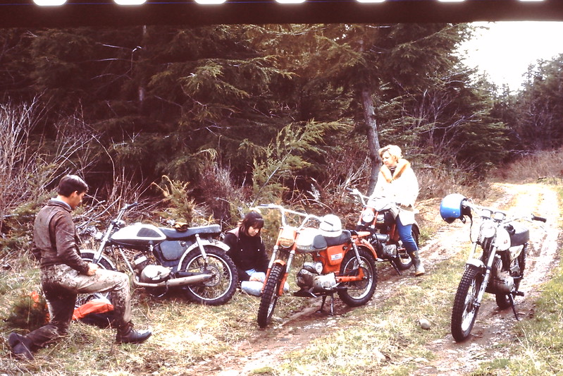 Bill bought a new Yamaha 125 Enduro, That was a hot setup back then...