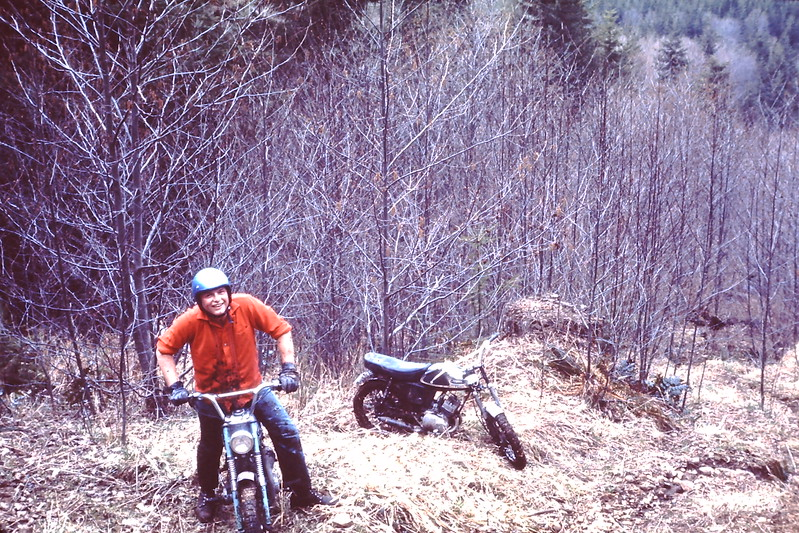 Tim again, we are following the power lines near grenwater, '64 Yamaha 80 and '65 Yamaha 100