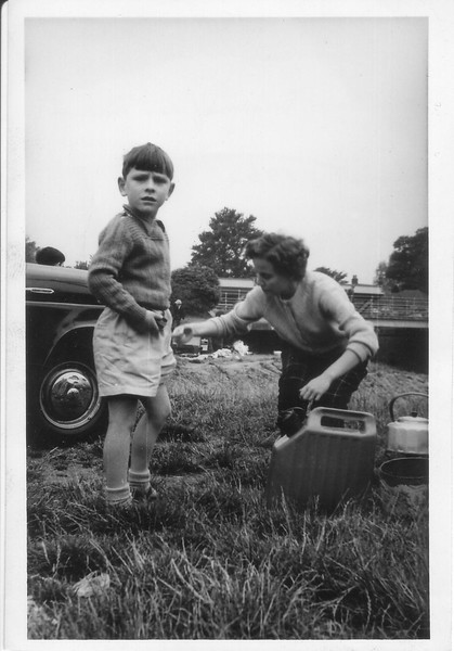 Paul and Norma at a picknick where Albert was fishing in a deep stream nearby