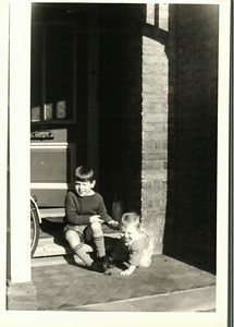 Paul & Jean on the front porch in Bexleyheath