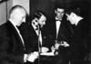 1964<br /> Presentation Night<br /> L-R<br /> Mil Napthine<br /> Gus Milligan<br /> Vernon Spencer<br /> Mike Eggleston