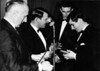 1964<br /> Presentation Night<br /> L-R<br /> Mil Napthine (President)<br /> Gus Milligan ( Club Captain)<br /> Vernon Spencer (Treasurer)<br /> Rob Cummings (Captain's Trophy Winner)