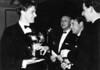 1964/65<br /> Portsea Presntation Night<br /> L-R<br /> David Wells (J.R.Wright Surf Race Trophy)<br /> Mil Napthin (President)<br /> Gus Milligan (Club Captain)<br /> Vernon Spencer (Treasurer)