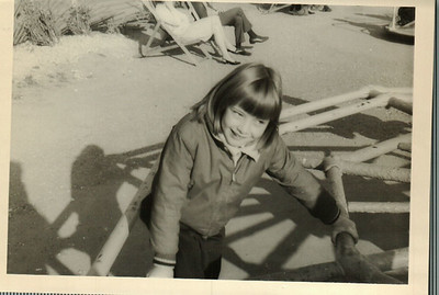 Janice in the playground on the way to Black Rock