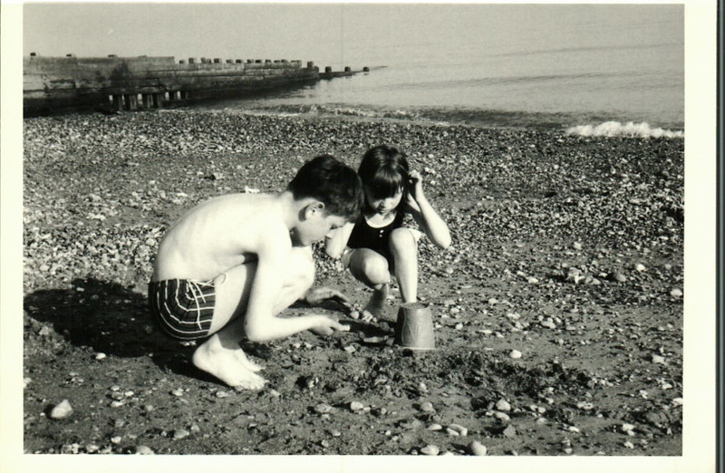 Paul and Jean on the beach at Littlehampton