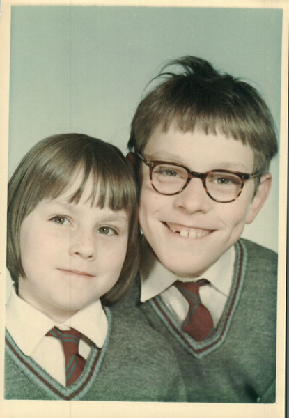 Paul and Jean school photo in Lancing