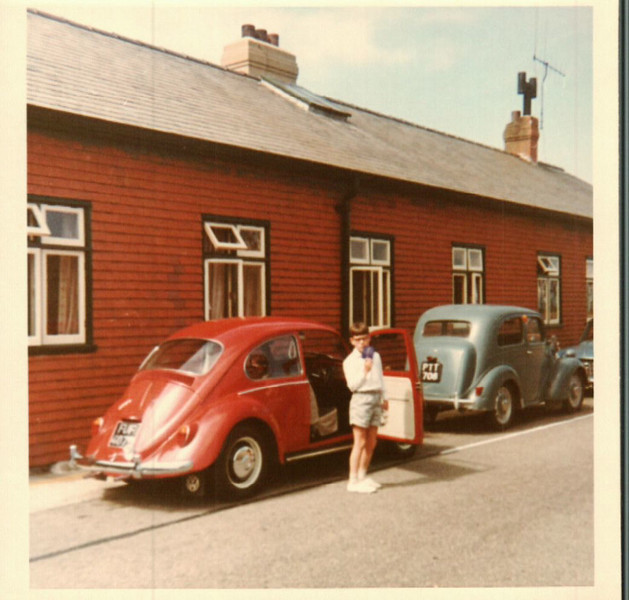 Paul next to John's car in Dorset
