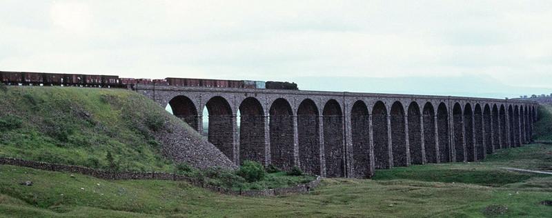 Black 5, Ribblehead, June 1967.  Drifting down the Long Drag towards Settle.