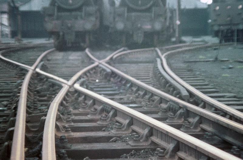 Rusty rails, Newton Heath loco shed, June 1968