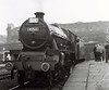 45565 Victoria, Bradford Forster Square, 24 September 1966 1    The Low Moor (56F) loco arrives to work the Jubilee Railway Society's South Yorkshireman No 6 tour from Bradford to Glasgow and back.  The tour was coded 1X04,  As my photos will show, the weather was dry but very dull throughout.