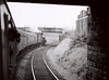 45565 Victoria, Carlisle, 24 September 1966    Approaching Citadel Station, with the Jubilee about to pass under the bridge leading into the (closed) ex LNWR Crown Street goods depot.