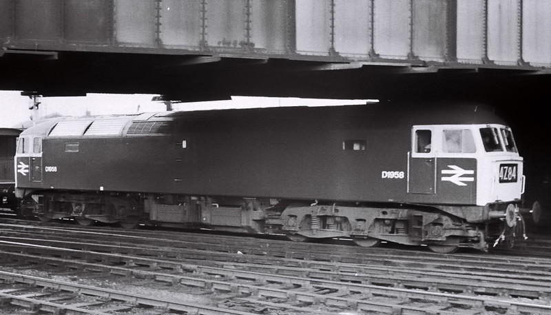 D1958, Chester, 4 March 1967    The Brush Type 4 had only just entered traffic, on 4 February 1967.  It became 47512, and was scrapped in 1993.