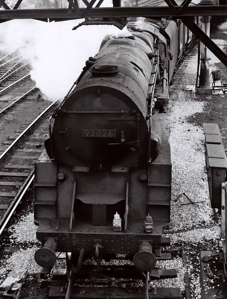 92026, Chester, 4 March 1967 1    The former Crosti-boilered 9F lasted until November 1967.