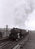 44852, Hest Bank, 25 March 1967 2.    Returning from Heysham, the Black 5 seen earlier accelerates over the troughs.