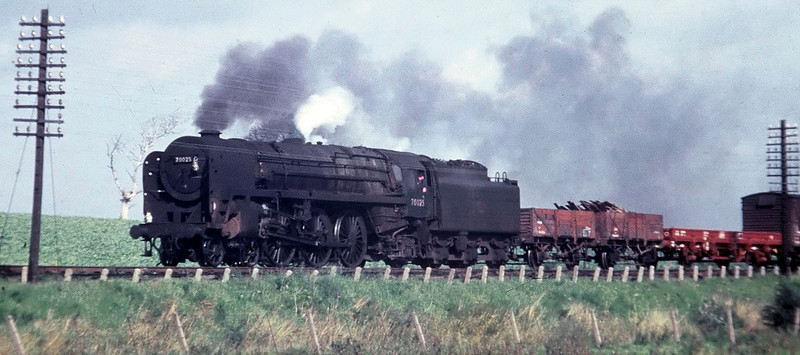 70025, Hest Bank, August 1967.  The former Western Star heads south.  It was withdrawn in December 1967.
