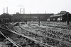 Nine Elms Shed (70A), 29 May 1967 1   Nine Elms was London's last steam shed.  It closed on 10 July when the Bournemouth electrification opened.  NB that Battersea Power Station was still at work.