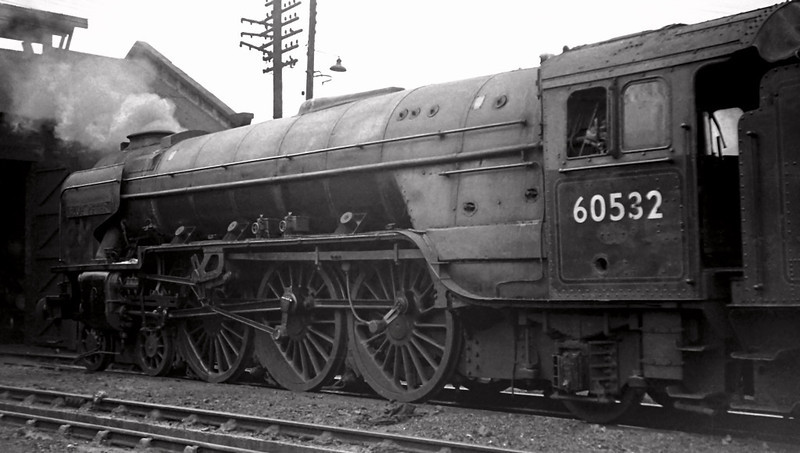 60532 Blue Peter, Dundee shed, 22 August 1965