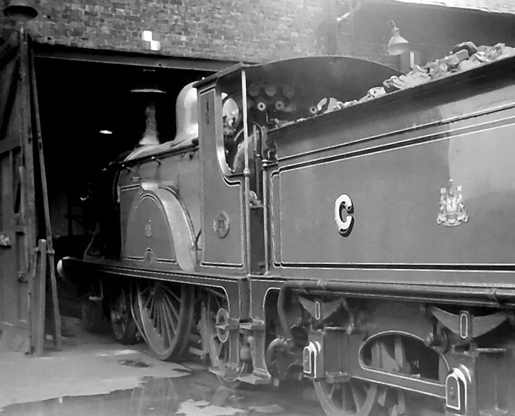 Caledonian Rly 123, St Rollox shed, 16 August 1965