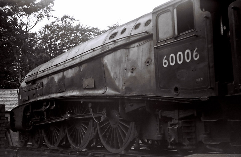60006 Sir Ralph Wedgwood, Ferryhill shed, 22 August 1965 1    Named after the LNER's renowned general manager, the A4 has reached the end of the line, its wheels chocked and cabside worksplate missing.
