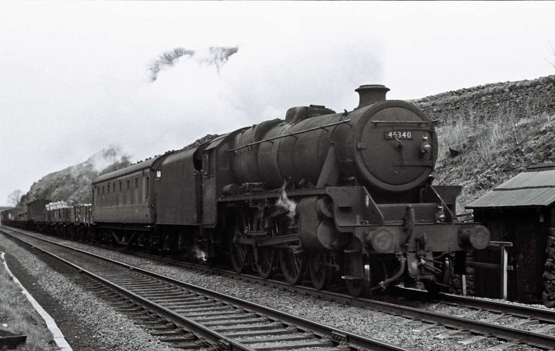 45340, near Settle Junction, 1 April 1967.