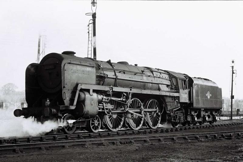 70045, Skipton shed, 1 April 1967. The former Lord Rowallan.