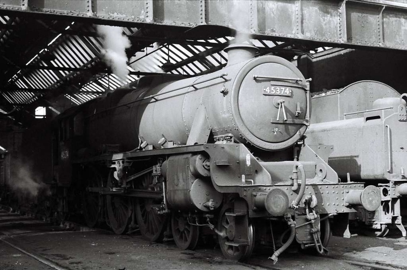 45374, Skipton shed, 1 April 1967.