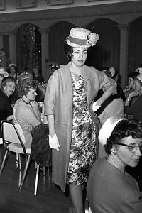 Mrs. James Walsh modeled a coat on March 8, 1962 at a luncheon for women attending the Redwood Region Logging Conference in Eureka with their husbands. Mrs. Walsh was the co-owner of the JJ Shop in Henderson Center.  (Times-Standard file photo)