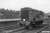 19630808-002  Southern Railway diesel shunting locomotive No. 15201 passing through Eastleigh station, classified as D3/12 by BR. This was one of a class of three experimental loco's designed for the SR by Richard Maunsell, they were introduced in 1937, but due to the outbreak of WW2 no more were built. This had only just been transferred to Eastleigh, records give it as transferred in the four week period up to 19th August 1963. It was withdrawn the following year.