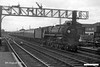 19630808-005  BR standard 5MT 4-6-0 No. 73117 Vivian pulling into Eastleigh with a passenger service.