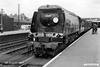 19630808-004  Southern Railway 'Battle of Britain' class 4-6-2 No. 34084 253 Squadron is seen at Eastleigh.