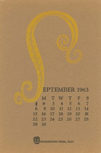 September, 1963, Underground Press