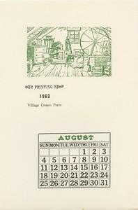 August, 1963, Village Green