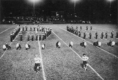 The Marching Woodmen spell out DC to salute Decatur Central high school - 1963