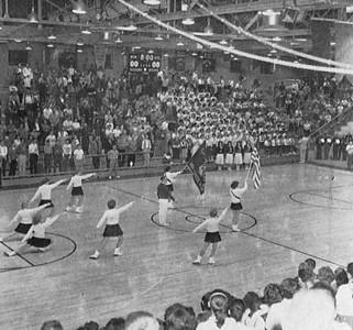Greenwood Majorettes performance - 1961