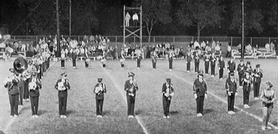 """Half time show at the """"Dad's Night"""" football game - 1960"""