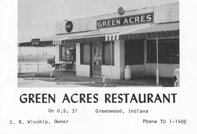 Green Acres began in the early 50's and survived until a fire struck in 2003. Neighbor Egg Roll #1 survived with minor damage. Green Acres never reopened. Not long after, the strip center was completely rebuilt.