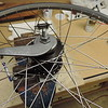 Here you can see the race-lace with all the spokes on the outside of the hub flanges.