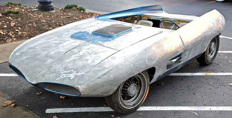 This is what the Vivant looked like when Texas collector Mark Brinker found the car on eBay. Loveland auto restoration specialist Jake Yenny said a previous owner had used a sander to remove most of the paint, damaging the aluminum body in the process. (Photo special to the Reporter-Herald)