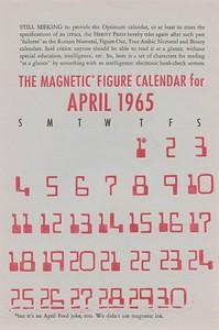 April, 1965, Herity Press