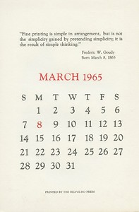 March, 1965, Heave-Ho Press