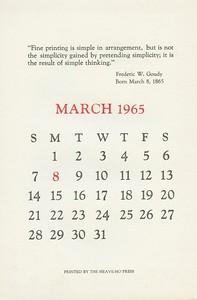 March, 1965, Heave-Ho Press