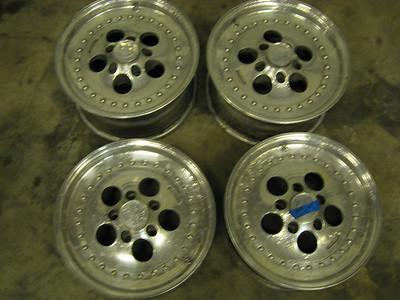 Centerline Champ 500 aluminum wheels. 15X7 rear, 15X6 front