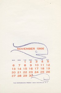 November, 1966, Peppercorn Press