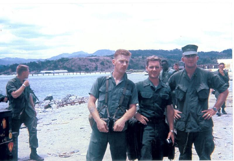 Sgt(s) Eestok; Ellinger; Deets at Subic Bay Phillipines