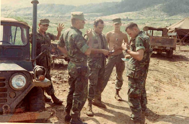 Ortiz, 1st Sgt Latimer, Hancock, Chesley, Lt Roberts