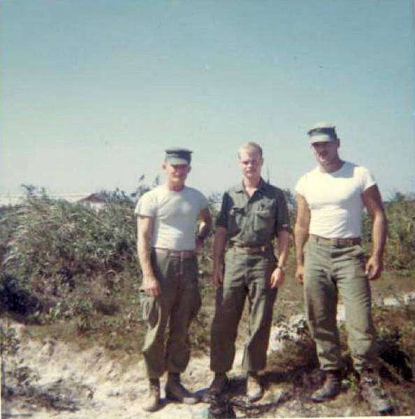 Cpl Nick, Doc Mallach, Cpl Rebar at Phu Bai